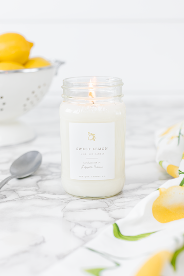 Sweet Lemon 16 oz Candle