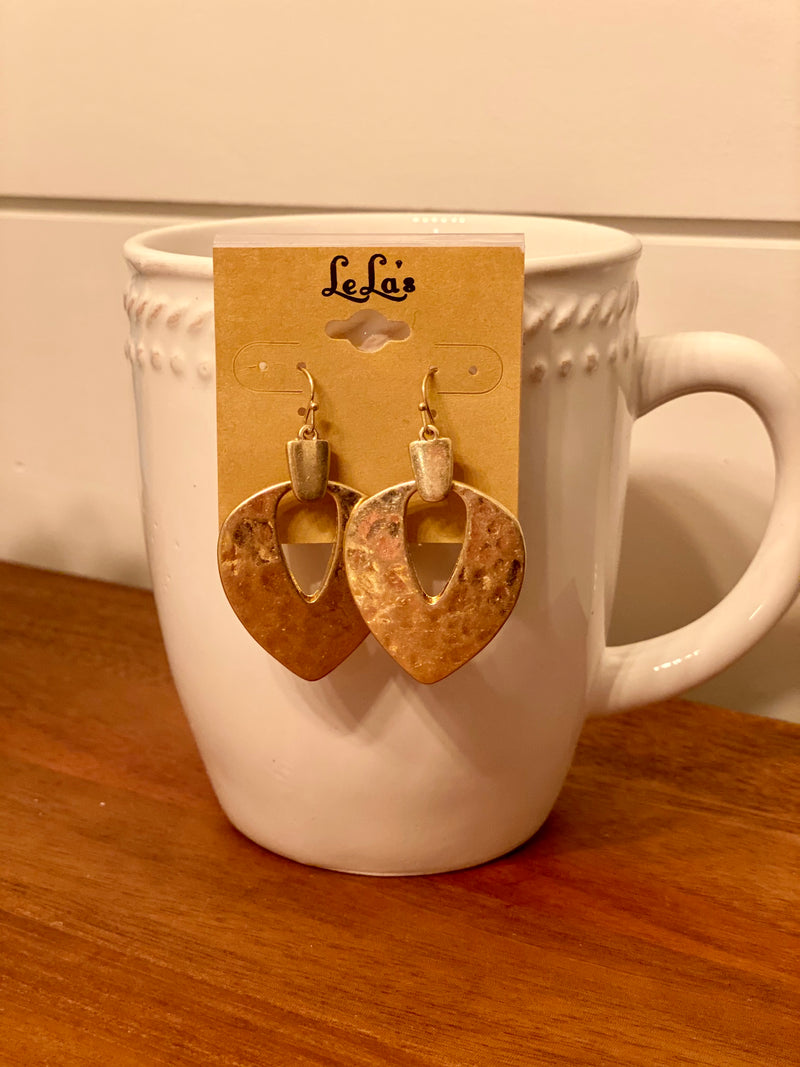 Gold Impression Earrings
