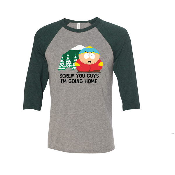 South Park Cartman Screw You Guys Raglan Baseball T-Shirt