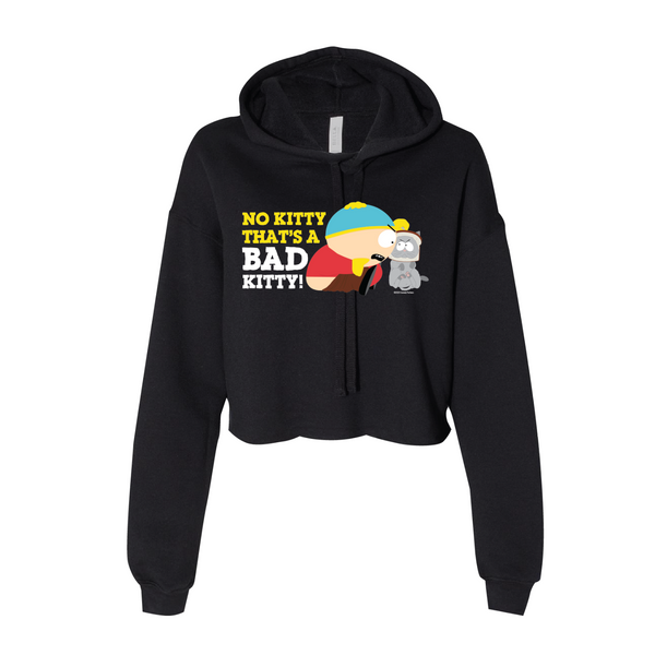 South Park Cartman Bad Kitty Women's Cropped Fleece Hooded Sweatshirt