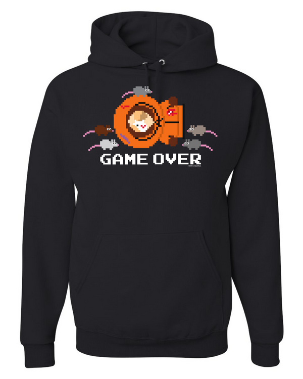 South Park Kenny Game Over Fleece Hooded Sweatshirt