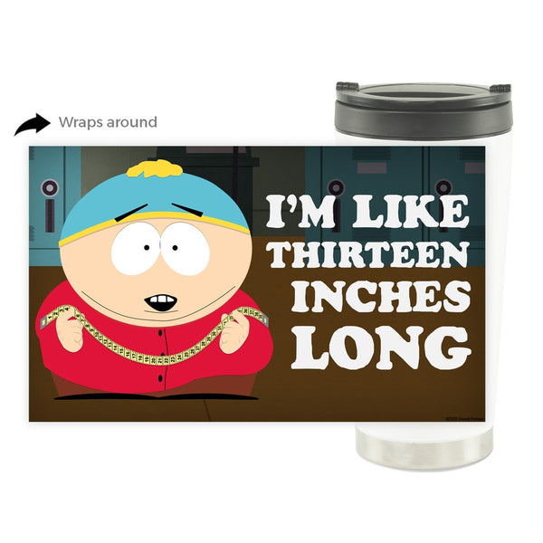 South Park Cartman Thirteen Inches Long 16 oz Stainless Steel Thermal Travel Mug
