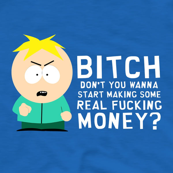South Park Butters Make Real Money Adult Short Sleeve T-Shirt