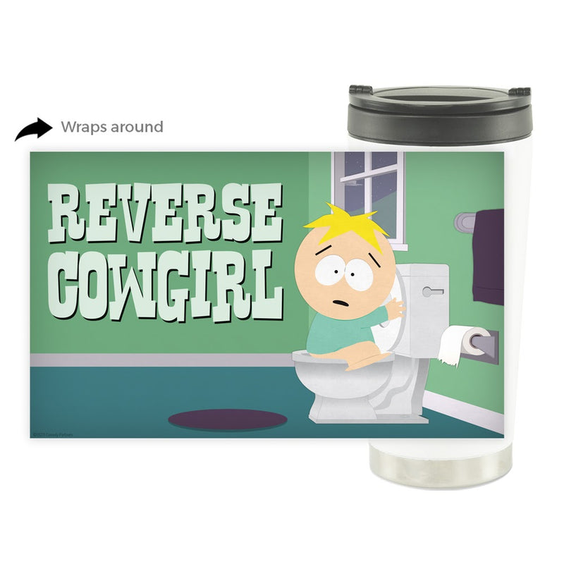 South Park Butters Reverse Cowgirl 16 oz Stainless Steel Thermal Travel Mug