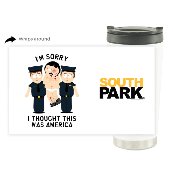 South Park Randy I Thought This Was America 16 oz Stainless Steel Thermal Travel Mug
