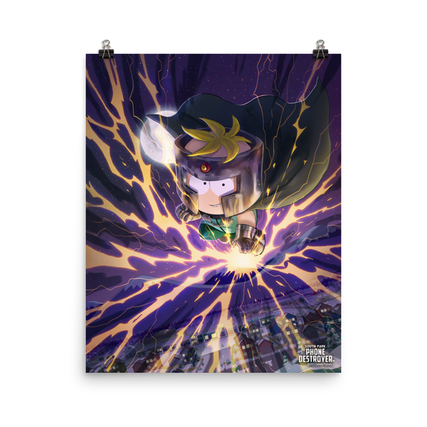 South Park Butters Professor Chaos Premium Satin Poster