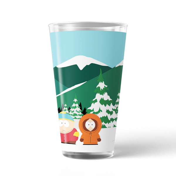 South Park Bus Stop 17 oz Pint Glass
