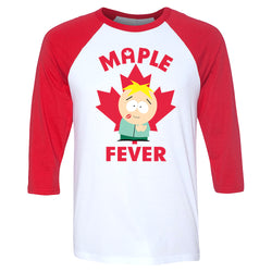 South Park Butters Maple Fever 3/4 Sleeve Baseball T-Shirt