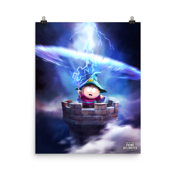 South Park Cartman Grand Wizard Premium Satin Poster