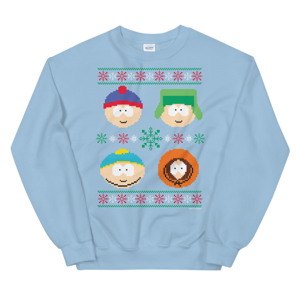 South Park Character Holiday Fleece Crewneck Sweatshirt