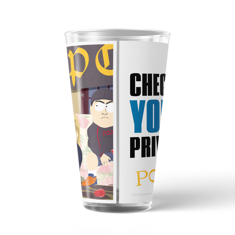 South Park PC Principal Check Your Privilege! 17 oz Pint Glass