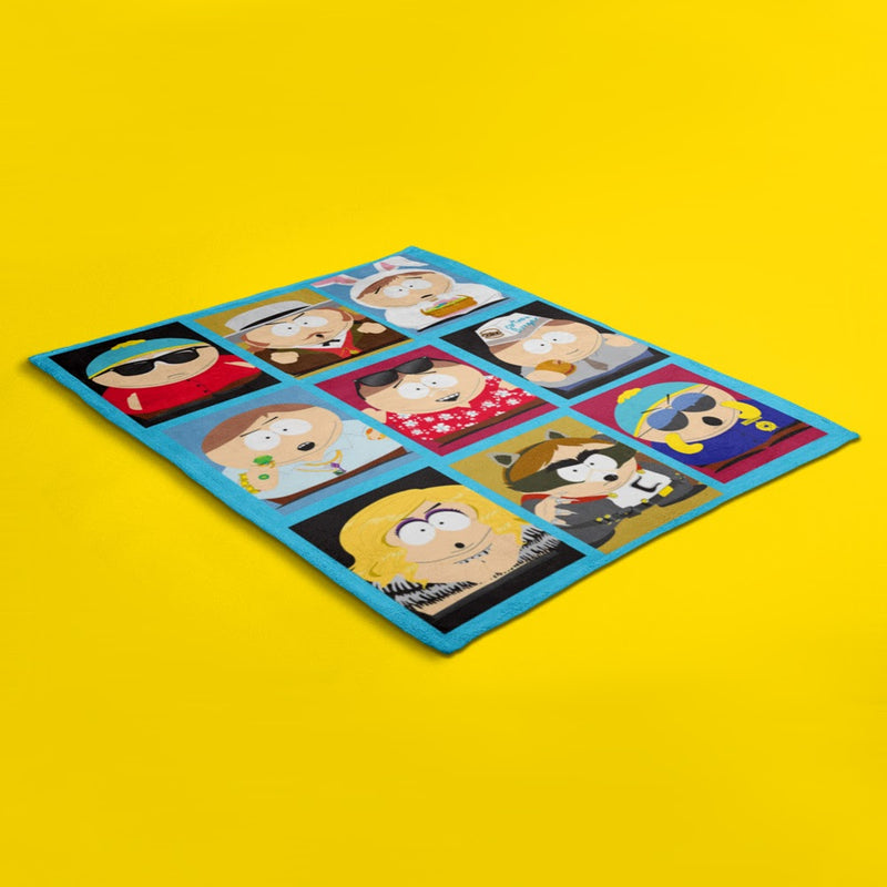 South Park Faces of Cartman Sherpa Blanket