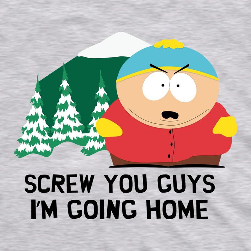 South Park Cartman Screw You Guys Grey Adult Short Sleeve T-Shirt