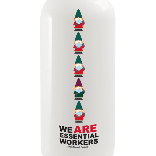 South Park Essential Workers 20 oz Screw Top Water Bottle with Straw