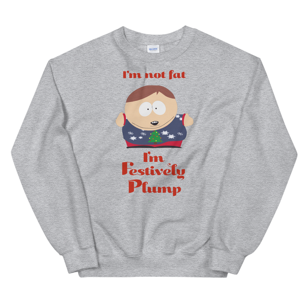 South Park Cartman Festively Plump Fleece Crewneck Sweatshirt