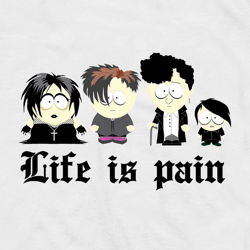 South Park Goth Kids Adult Short Sleeve T-Shirt