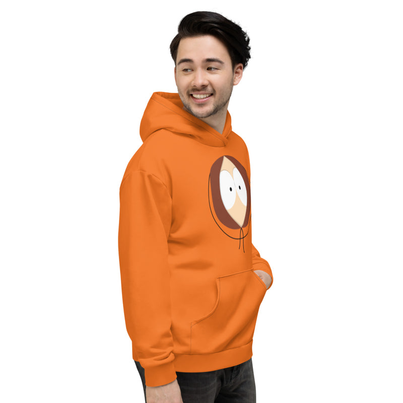 South Park Kenny Big Face All-Over Print Adult Hooded Sweatshirt