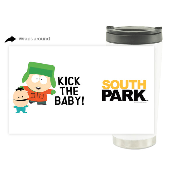 South Park Kyle Kick the Baby 16 oz Stainless Steel Thermal Travel Mug