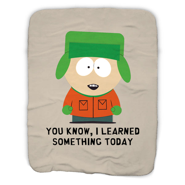 South Park Kyle I Learned Something Today Sherpa Blanket