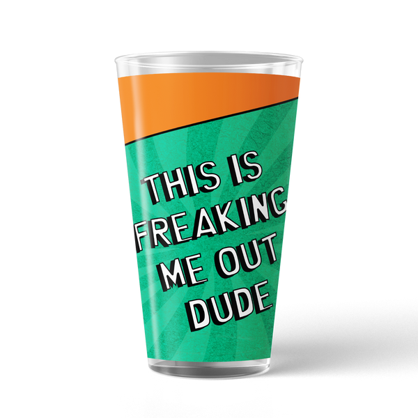 South Park Freaking Me Out Dude 17 oz Pint Glass