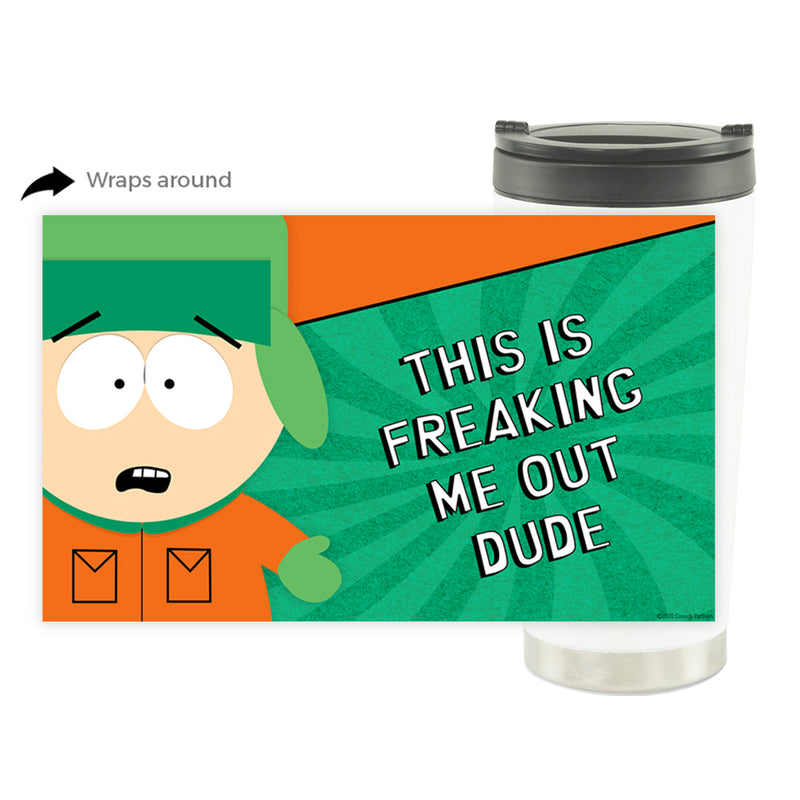 South Park Freaking Me Out Dude 16 oz Stainless Steel Thermal Travel Mug