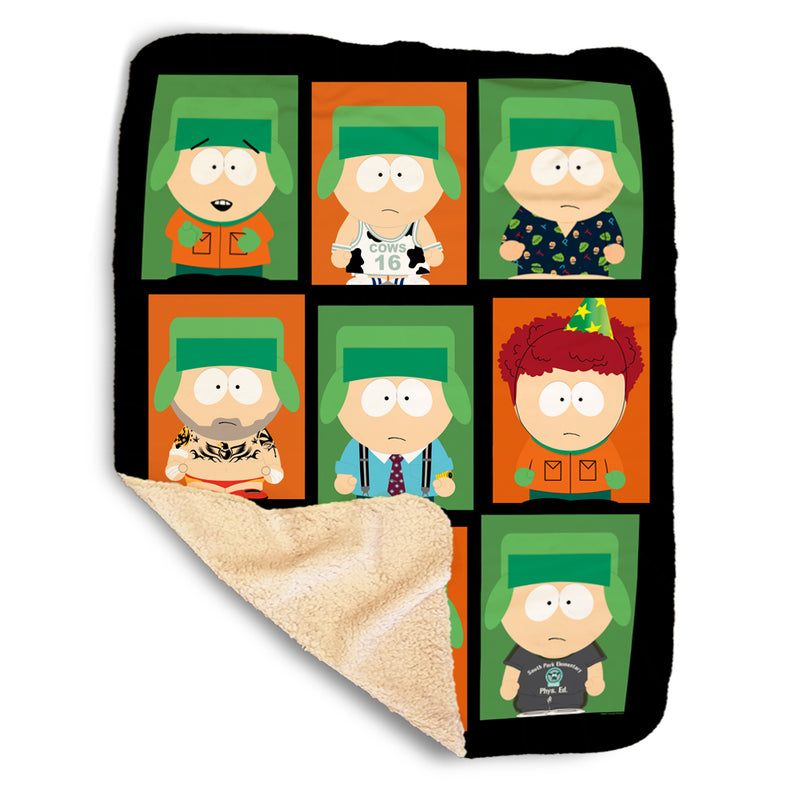 South Park Faces of Kyle Sherpa Blanket