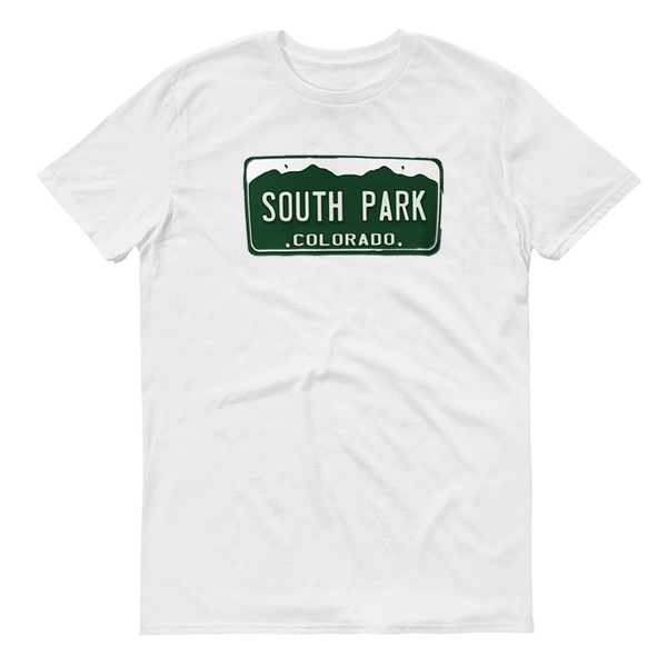 South Park License Plate Adult Short Sleeve T-Shirt