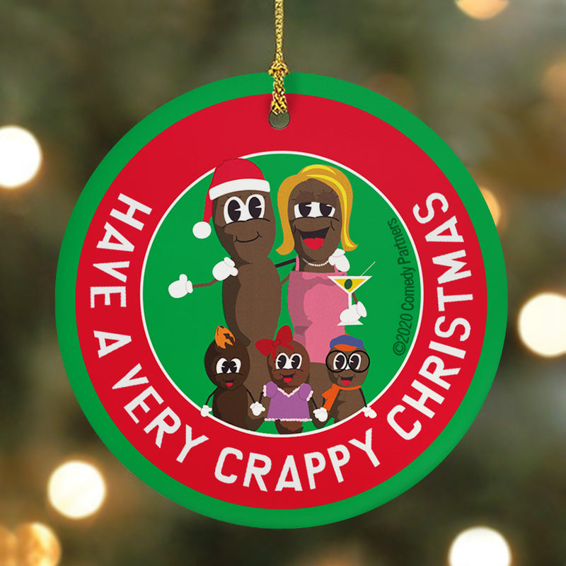 South Park Mr. Hankey Family Round Ceramic Ornament