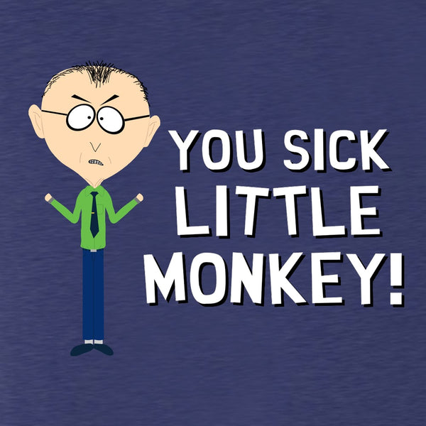South Park Mr. Mackey Sick Little Monkey Men's Tri-Blend T-Shirt