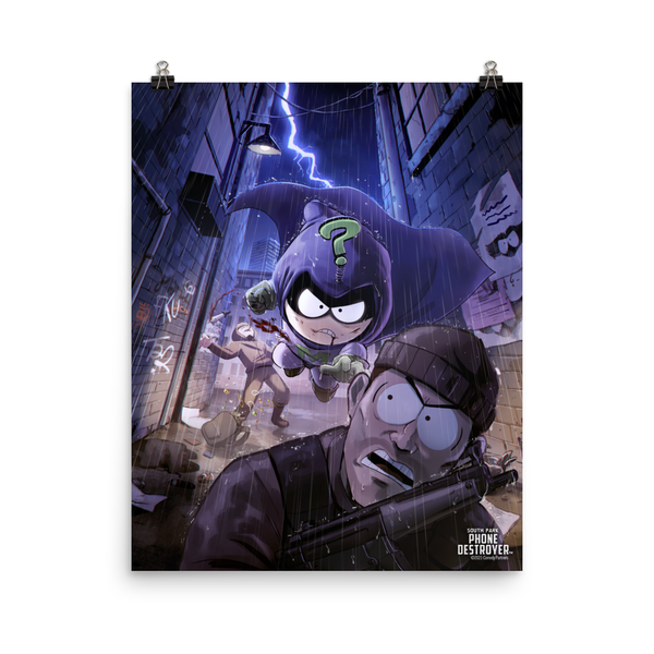 South Park Mysterion Premium Satin Poster