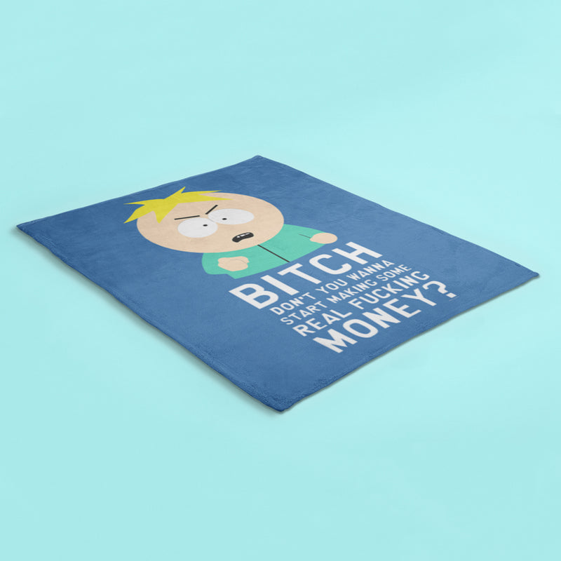 South Park Butters Make Real Money Sherpa Blanket