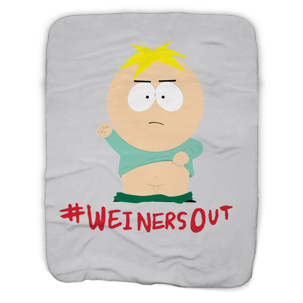 South Park Butters Weiners Out Sherpa Blanket