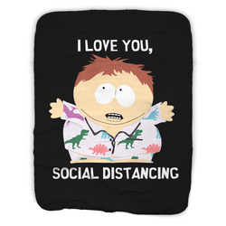 South Park I Love You Social Distancing Sherpa Blanket