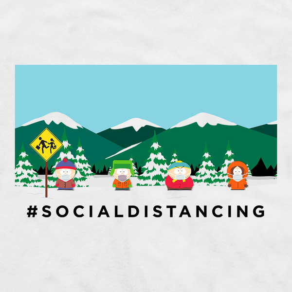 South Park Social Distancing Adult Short Sleeve T-Shirt