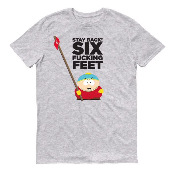 South Park Cartman Six Feet Back Adult Short Sleeve T-Shirt