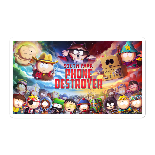 South Park Phone Destroyer Die Cut Sticker