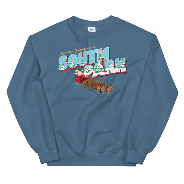 South Park Season's Greetings Holiday Fleece Crewneck Sweatshirt