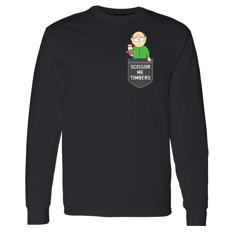 South Park Mr.Garrison Scissor Me Timbers Adult Long Sleeve T-Shirt