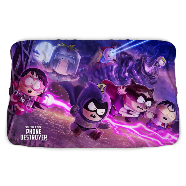 South Park Splash Superheroes Sherpa Blanket