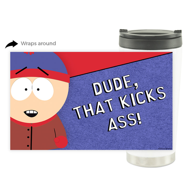 South Park Stan Kicks Ass 16 oz Stainless Steel Thermal Travel Mug
