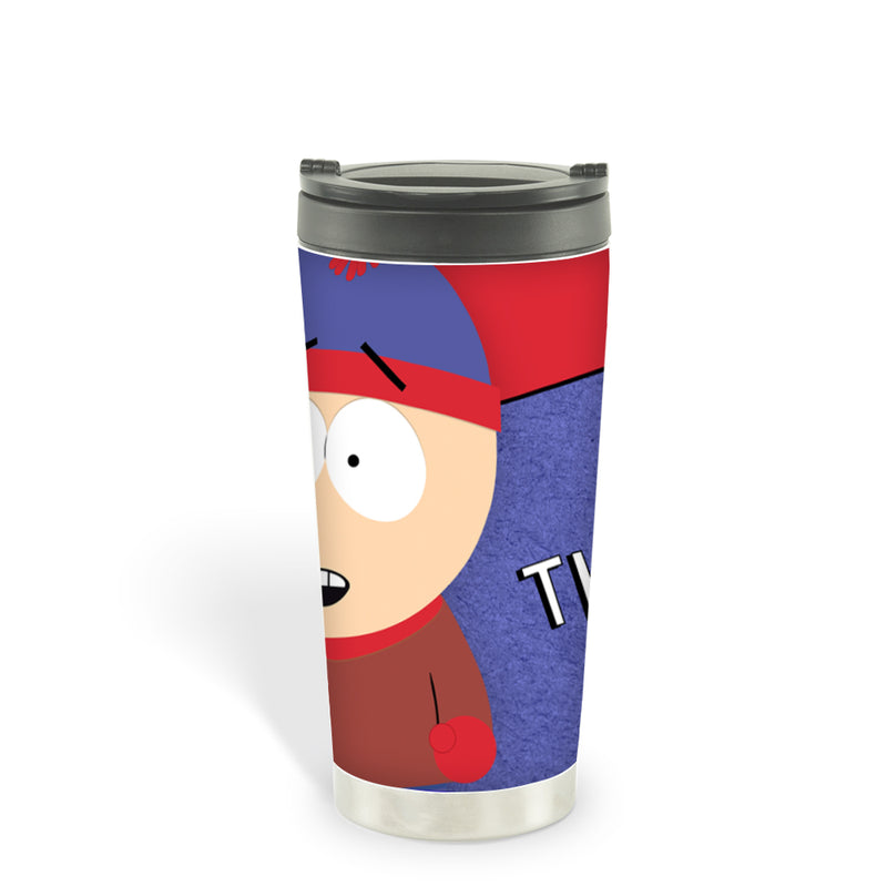 South Park Stan Kicks Ass 16oz Stainless Steel Thermal Travel Mug