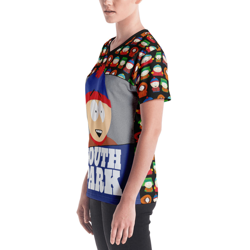 South Park Stan Women's All-Over Print V-Neck T-Shirt