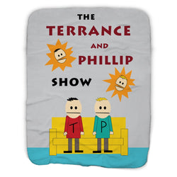 South Park The Terrance and Phillip Show Sherpa Blanket