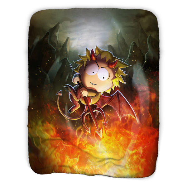 South Park Devil Tweek Sherpa Blanket