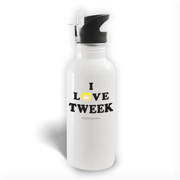 South Park I Love Tweek 20 oz Screw Top Water Bottle with Straw