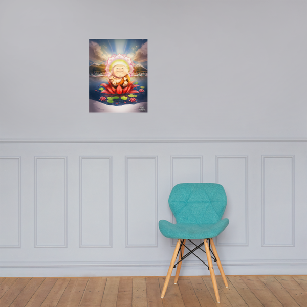 South Park Zen Cartman Premium Satin Poster