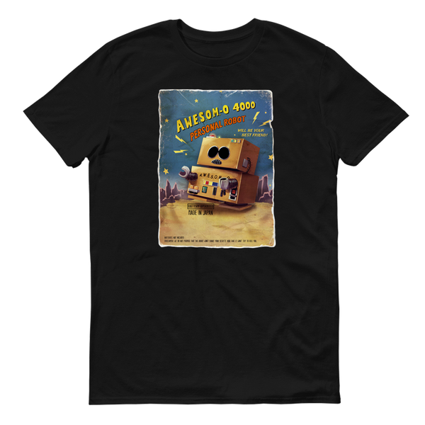 South Park Awesom-o Black Adult Short Sleeve T-Shirt