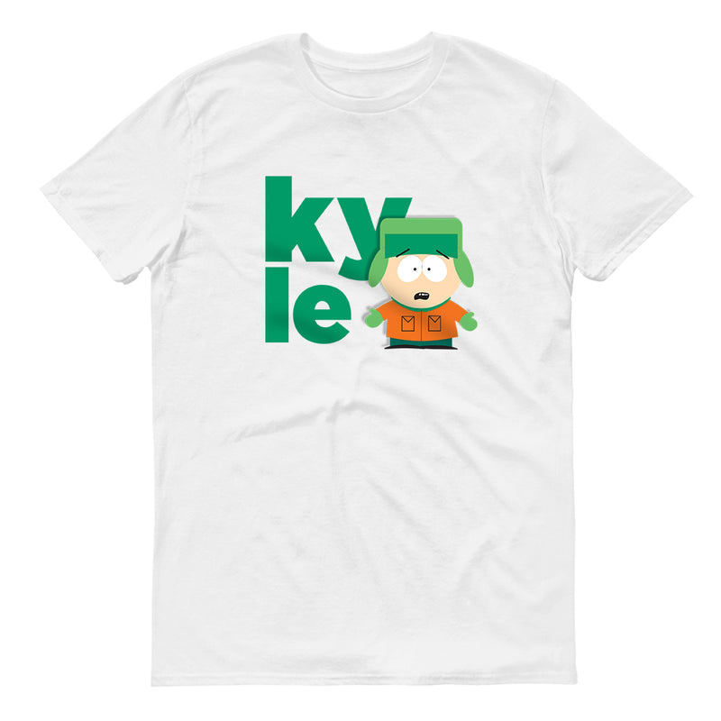 South Park Kyle Name Adult Short Sleeve T-Shirt - SDCC Exclusive Color