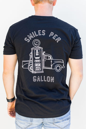Smiles Per Gallon Short Sleeve - Black