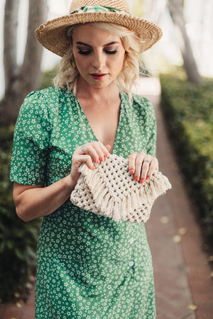 Macrame Natural Clutch